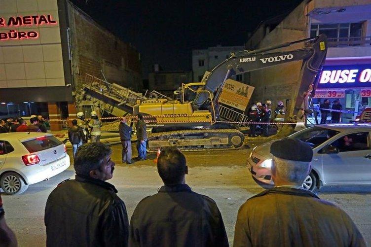 3 katlı bina çöktü