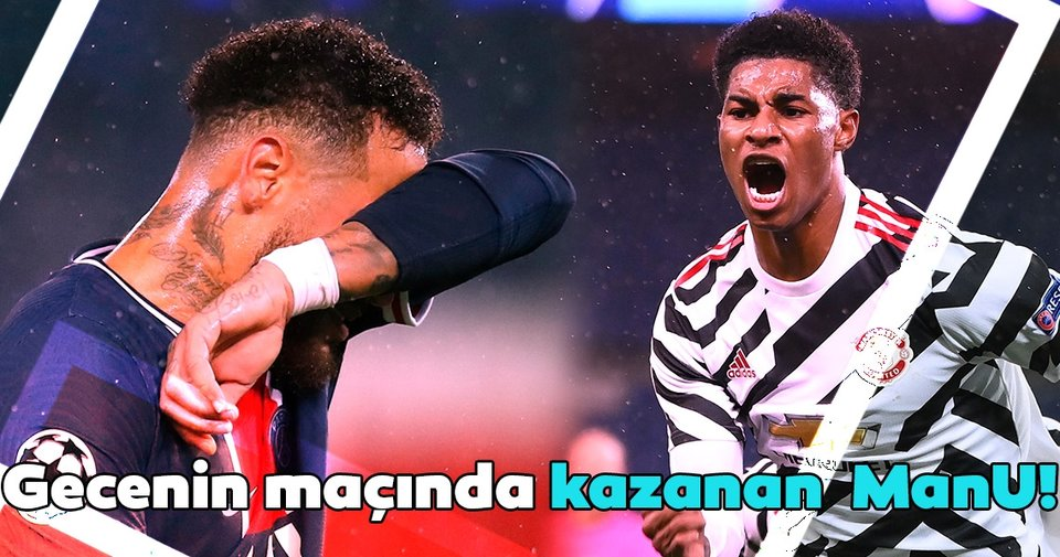 Haftanın maçında kazanan ManU! Paris Saint-Germain ...