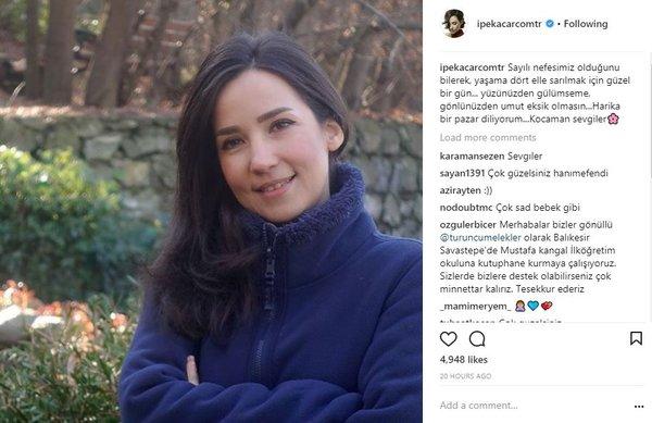 Ünlü isimlerin Instagram paylaşımları (08.01.2018)