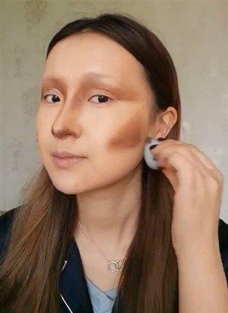 Makyajla kendini Mona Lisa`ya benzetti