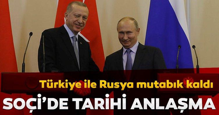 Son Dakika: Başkan Erdoğan ve Putin  Soçi'de mutabık kaldı