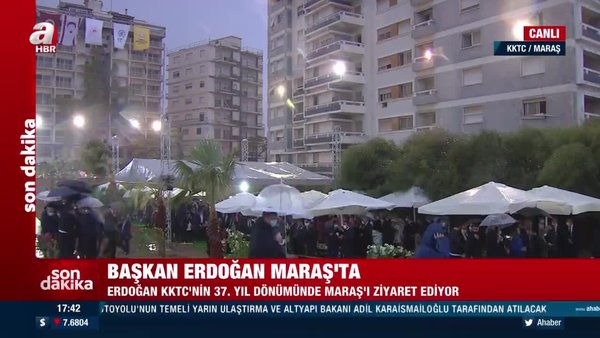 Son dakika! KKTC'de tarihi ziyaret. Başkan Erdoğan 46 yıl sonra açılan Maraş'ta | Video