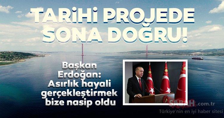 Başkan Erdoğan 1915 Çanakkale Köprüsü'nün temel atma törenine video konferans ile katıldı