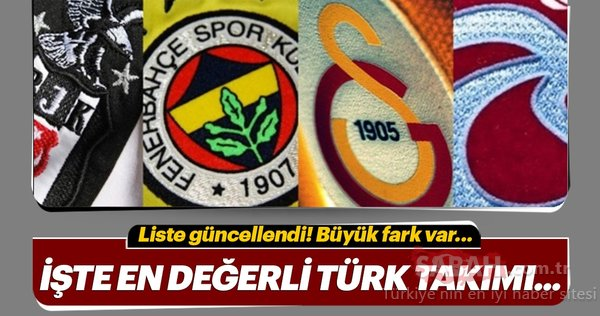 Dünyanın ve Türkiye'nin en değerli kulüpleri belli oldu! İşte liste...