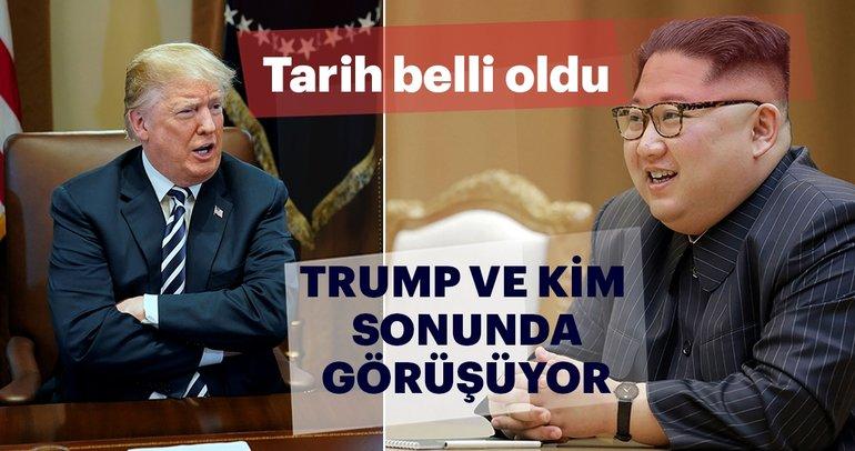 Son dakika: Trump-Kim Jong-un görüşme tarihi belli oldu