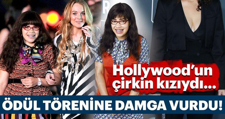 Hollywood'un çirkin kızıydı... Ödül törenine damga vurdu!