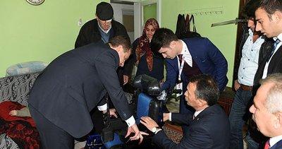 Engelli İbrahim'e tekerlekli sandalye
