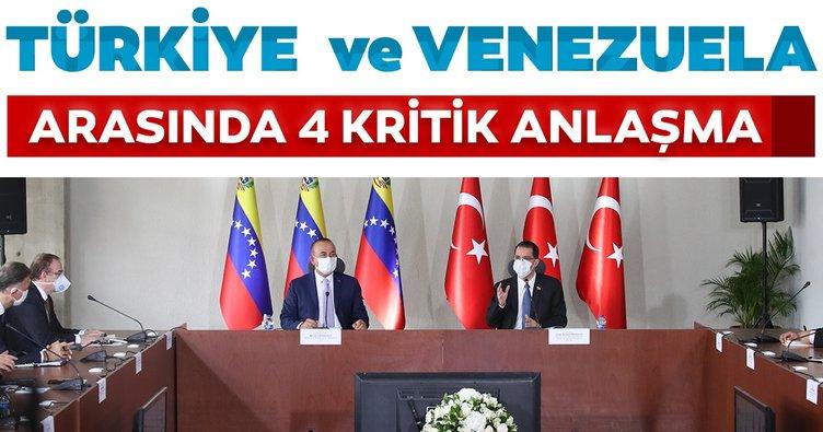 Dışişleri Bakanı Çavuşoğlu, Venezuela'da mevkidaşıyla ortak basın toplantısı düzenledi
