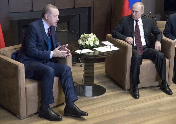 Cumhurbaşkanı Erdoğan ile Rusya Devlet Başkanı Putin bir araya geldi