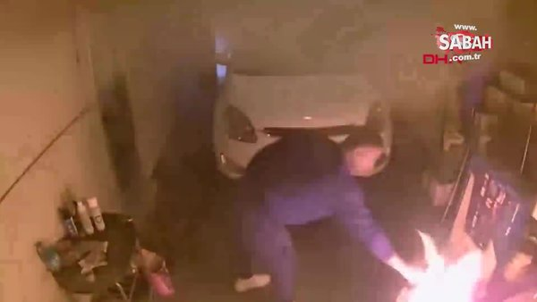 ABD'de barbeküde mangal yapan kişinin yaşadığı zor anlar kamerada   Video