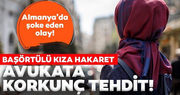 Almanya'da başörtüsüne hakaret davasında şoke eden olay!  Müslüman gencin Türk avukatına tehdit mektubu...