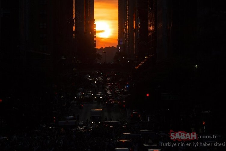 New York'ta Manhattanhenge zamanı
