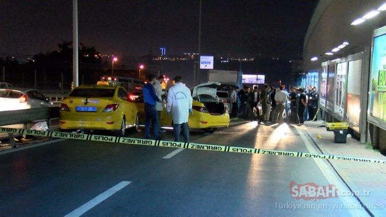 Taksi gasp etti, araçlara çarptı, polisle çatıştı