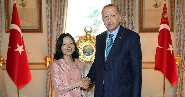 Cumhurbaşkanı Erdoğan Japonya Prensesi Mikasa ile görüştü