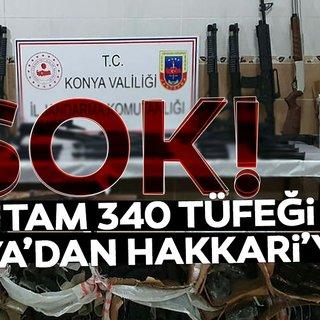 Kargoyla Hakkari'ye gönderilen 340 tüfek ele geçirildi