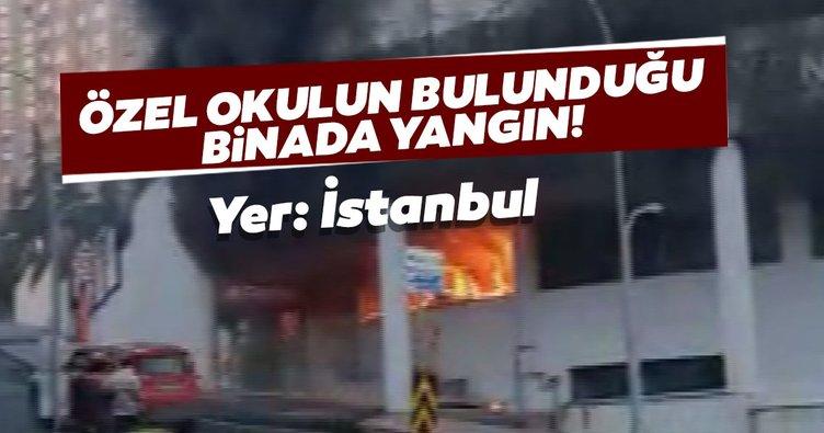 Son dakika: Başakşehir'de özel okulun bulunduğu binada yangın!