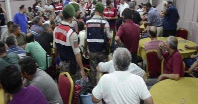 Mersin'de kumar oynatılan sendikaya operasyon