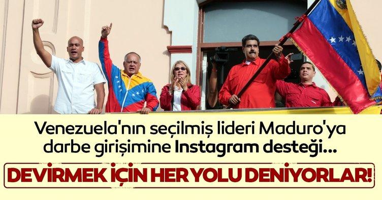 Son dakika haberi: Venezuela'nın seçilmiş lideri Maduro'ya darbe girişimine Instagram desteği!