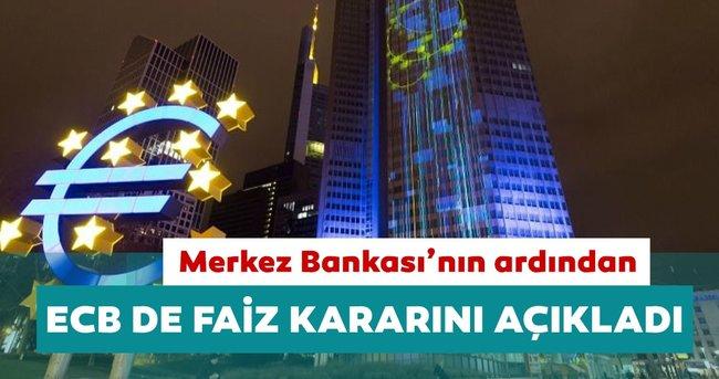 Son dakika: Avrupa Merkez Bankası ECB faiz kararını açıkladı