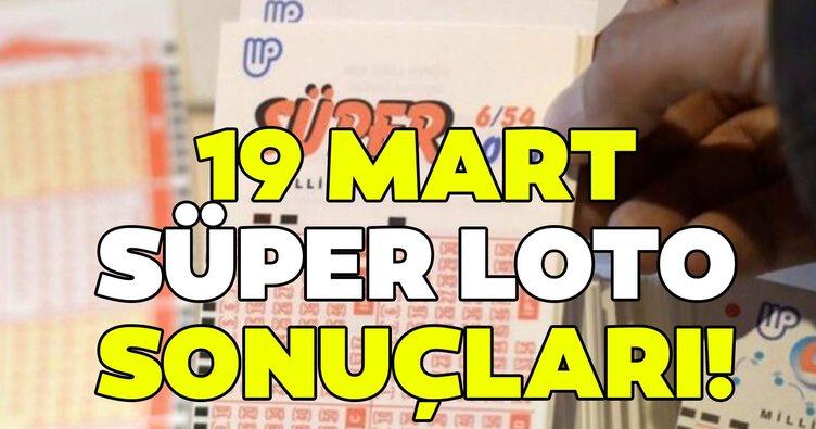 Süper Loto sonuçları açıklandı! 19 Mart Milli Piyango Süper Loto çekiliş sonuçları ve hızlı bilet sorgulama ekranı burada…