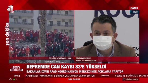 Son dakika! Tarım ve Orman Bakanı Bekir Pakdemirli'den İzmir'de önemli açıklamalar | Video