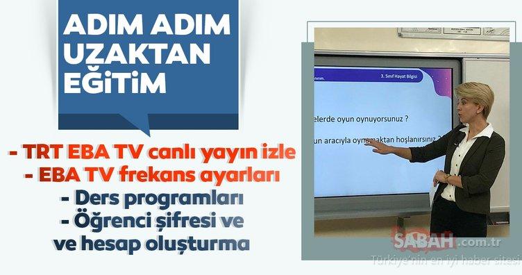 EBA TV canlı yayını HD izle! TRT EBA TV canlı izle ve frekans ayarları sayfası! Uzaktan eğitim hangi kanalda? İşte EBA öğrenci girişi ile şifre alma ekranı