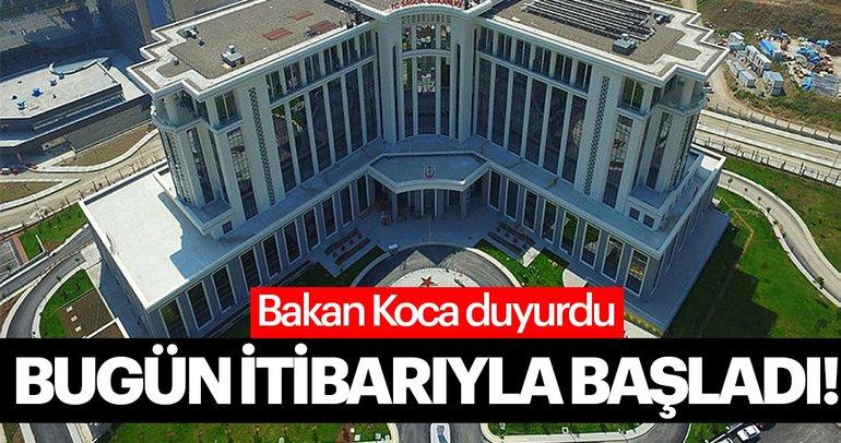 Ankara Şehir Hastanesi'nde hasta kabulüne bugün itibarıyla başlandı