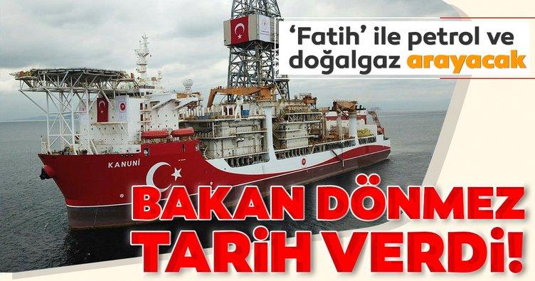 SON DAKİKA! Bakan Dönmez tarih verdi! 'Kanuni' gemisi Fatih ile arama yapacak