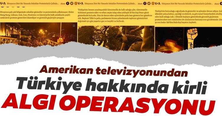 Amerikan VOA televizyonundan Türkiye için kirli algı operasyonu