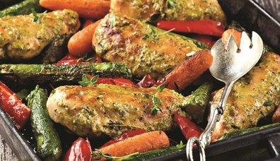 Fesleğen soslu tavuk eti