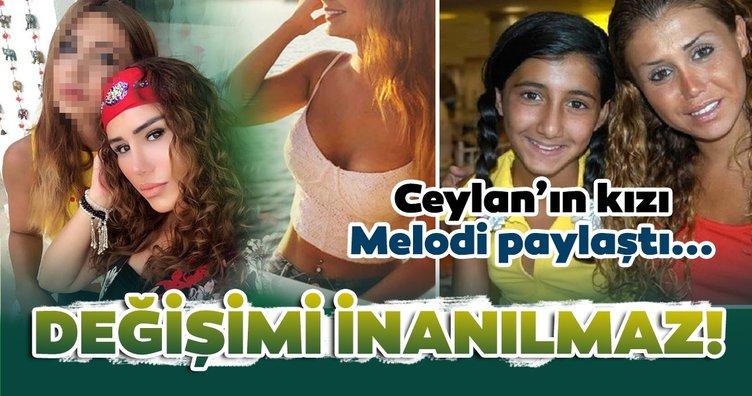 Ceylan'ın kızı Melodi paylaştı gündeme bomba gibi düştü! Melodi Bozkurt'un değişimi inanılmaz!