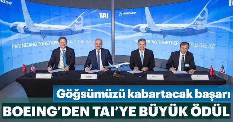 Boeing'den TAI'ye büyük ödül