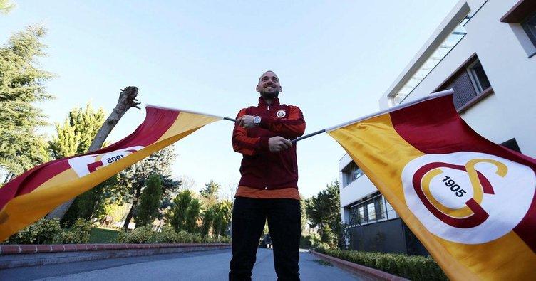 Sneijder Florya aktarmalı ABD'ye