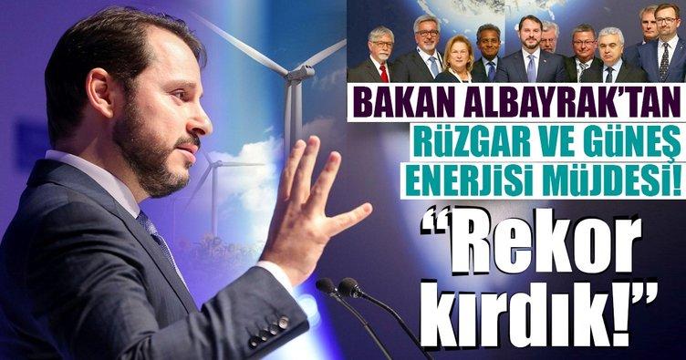 Bakan Albayrak'tan rüzgar ve güneş enerjisi müjdesi!