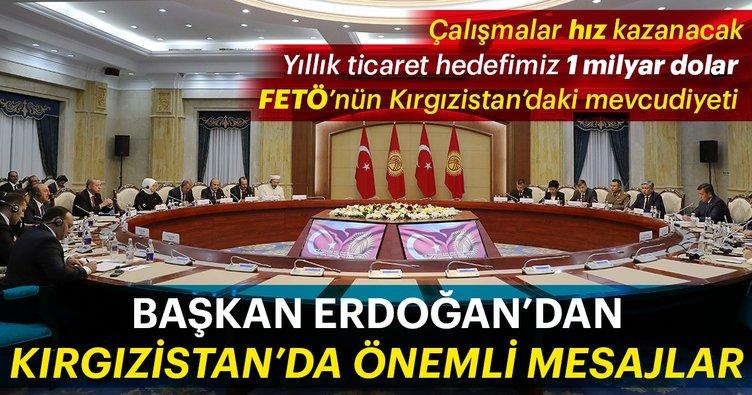 Başkan Erdoğan Kırgızistan'daki toplantıya başkanlık etti