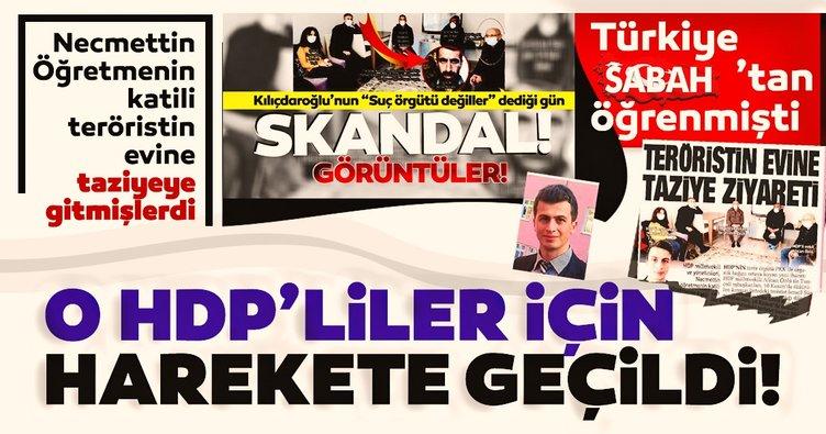 Son dakika: Necmettin Öğretmeni şehit eden teröriste taziyeye gitmişleri! O HDP'liler için harekete geçildi...
