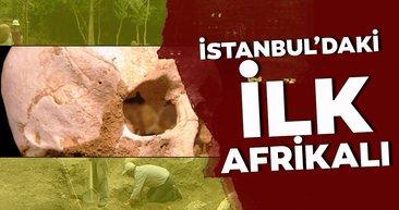 İstanbul'daki ilk Afrikalının kafatası Bathonea kazılarında bulundu