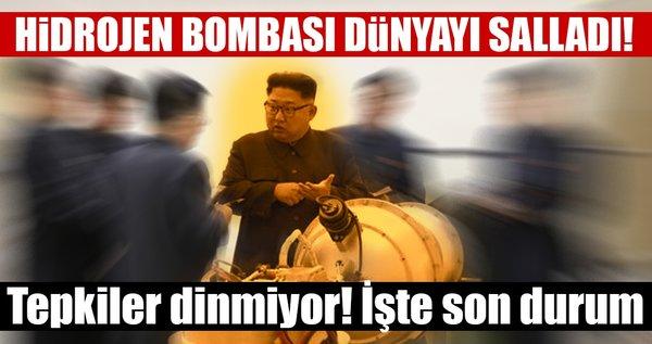 Son dakika: Kuzey Kore dünyayı salladı! 'Hidrojen bombası denedik'