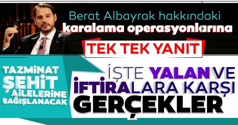 Berat Albayrak'a yönelik karalama operasyonuna tek tek yanıt: İftira kampanyasına karşı yasal yollara başvurulacak
