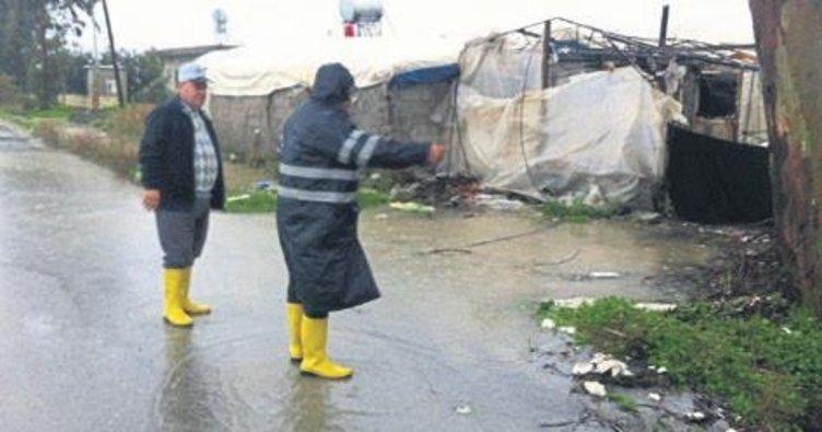 Yağmur mağduru vatandaşa yardım eli
