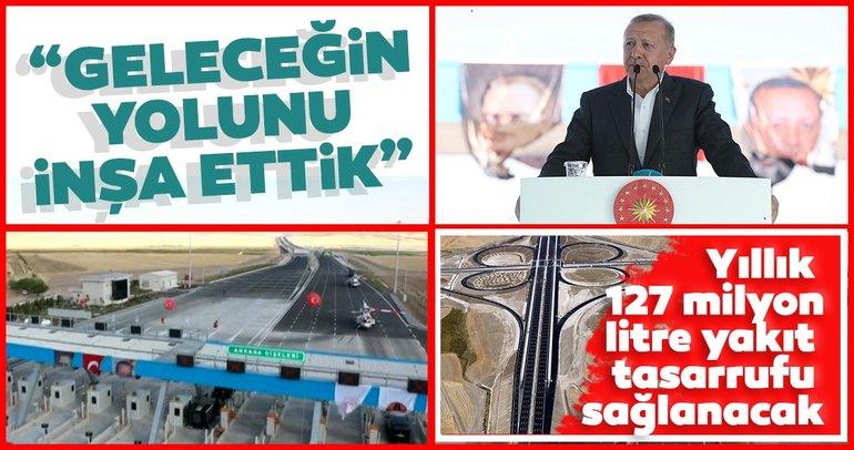 Türkiye'nin en akıllı otoyolu Başkan Erdoğan tarafından hizmete açıldı