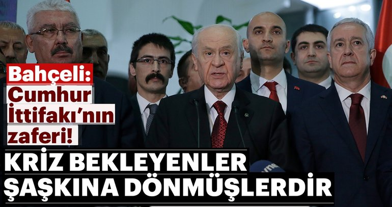 Devlet Bahçeli: Cumhur İttifakı Türkiye'nin teminatıdır.