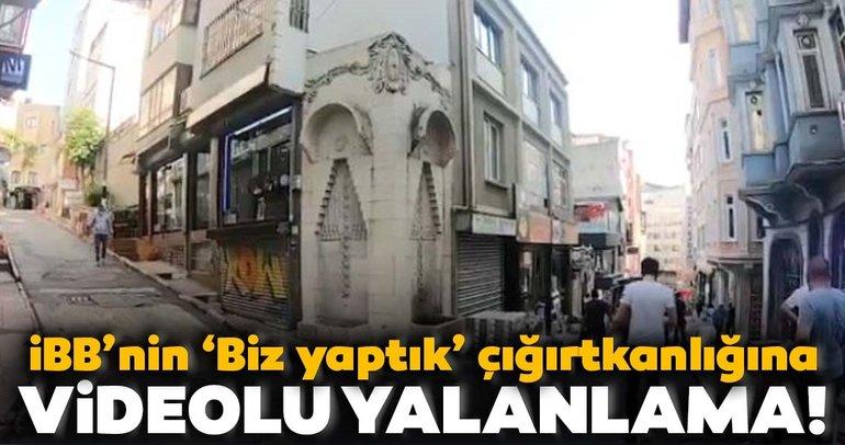 İBB'nin 'biz yaptık' çığırtkanlığına Beyoğlu Belediye Başkanı'ndan 'video'lu yalanlama