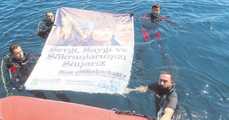 Engelli sporcu Balıkesir için dalış gerçekleştirdi