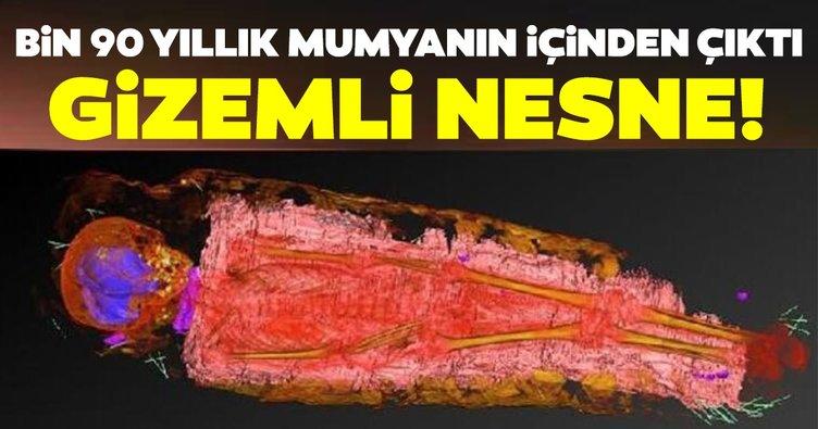 Son dakika haberi: Bilim dünyasını şaşırtan keşif: Bin 900 yıllık mumyanın içinden çıktı! Gizemli nesne...