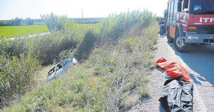 Otomobil drenaj kanalına uçtu, bir aile yok oldu