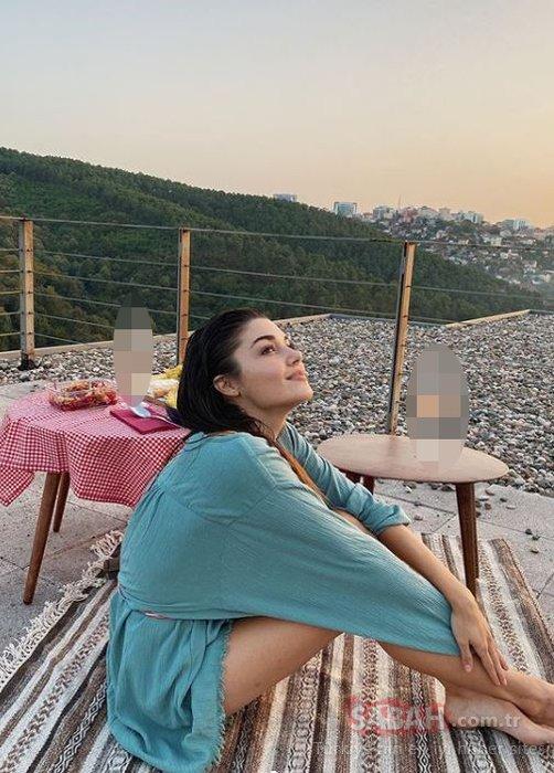 Hande Erçel fascinated with the sunset pose! Did Kerem Bürsin take the romantic poses of Hande Erçel?