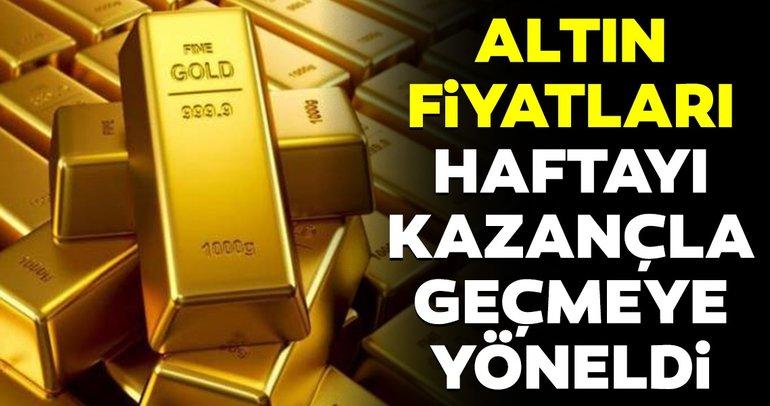 Altın fiyatları haftayı kazançla geçmeye yöneldi