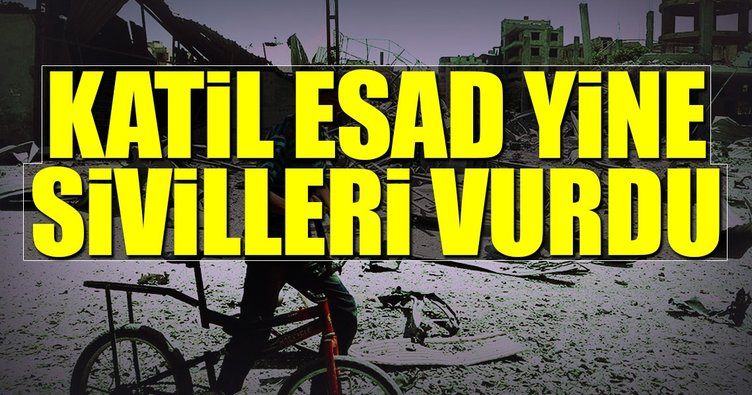 Katil Esad yine sivilleri vurdu