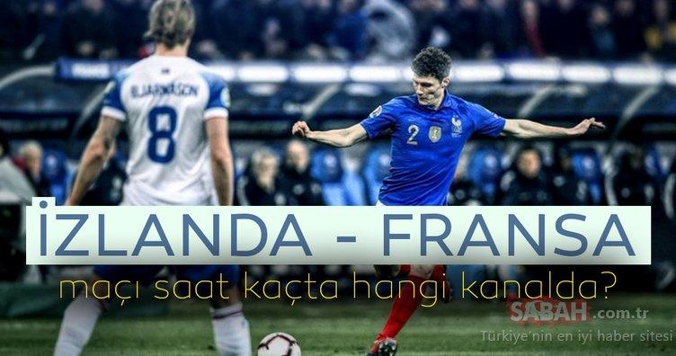 İzlanda Fransa maçı hangi kanalda yayınlanacak? EURO 2020 Avrupa Şampiyonası Elemeleri Fransa İzlanda maçı ne zaman saat kaçta?
